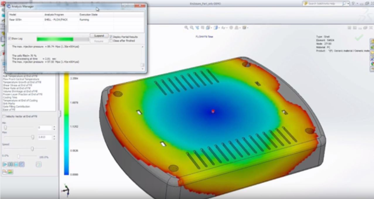 SolidWorks Plastics First Look